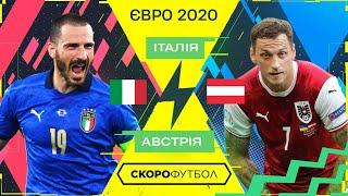 Італія Австрія Початок ПЛЕЙ ОФ 1 8 фіналу ЄВРО Скорофутбол
