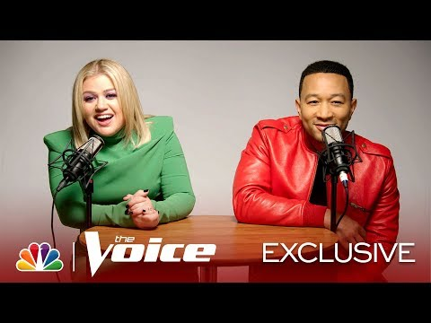 ASMR: 6 Minutes With Kelly Clarkson And John Legend Whispering, Crunching, Jingling - The Voice 2019