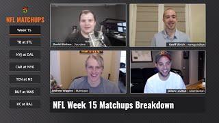 NFL Week 15 Matchups Breakdown - DraftKings Fantasy Football Picks