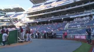 Washington Nationals, Secretary of the Navy Salutes Sailors, Marines