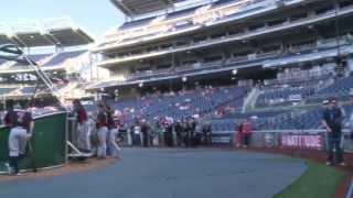 Washington Nationals, Secretary of the Navy Salutes Sailors, Marines