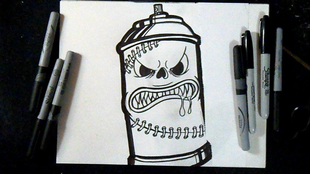 Cmo dibujar Lata de Spray 4  Graffiti  ZaXx  YouTube
