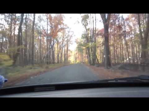Scenic fall drive in Hopewell NJ