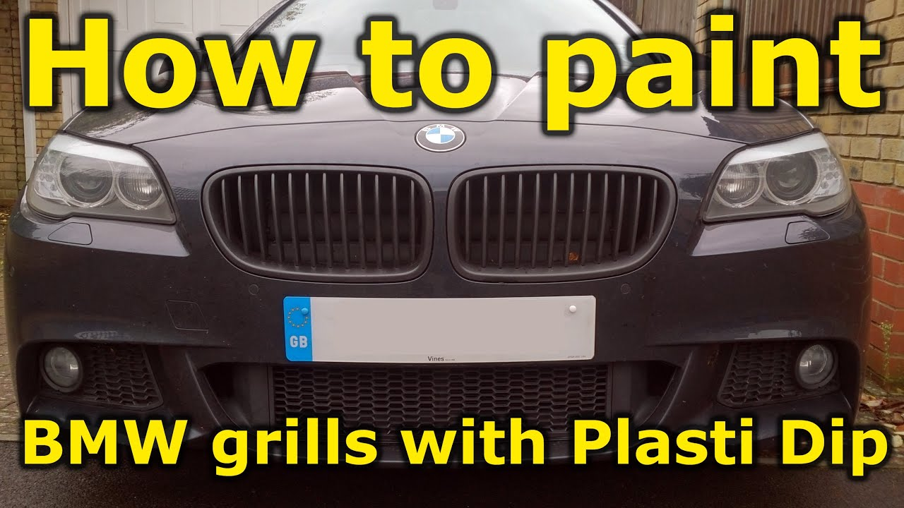 How to paint your BMW grills with Plasti Dip - YouTube