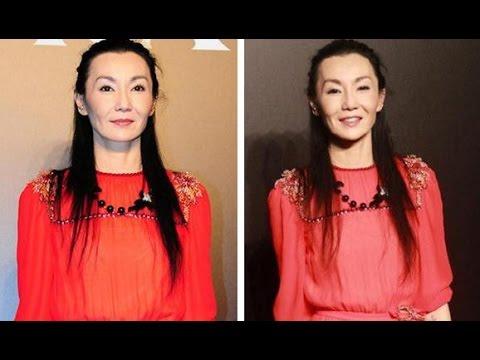 52歲張曼玉紅裙現身:顴骨突出髮際線上揚!