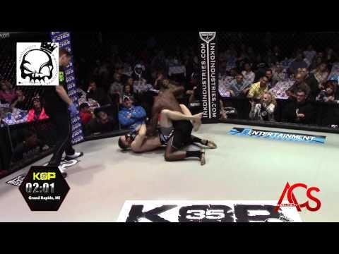 """Knockout Promotions"" Michigan MMA Michael Taylor Vs Royce Slater 145lb"