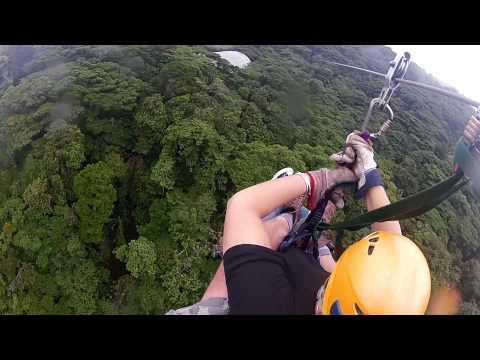 1K Zip line in Costa Rica, Monteverde Cloud Forest, Wearing my Go Pro Hero2.