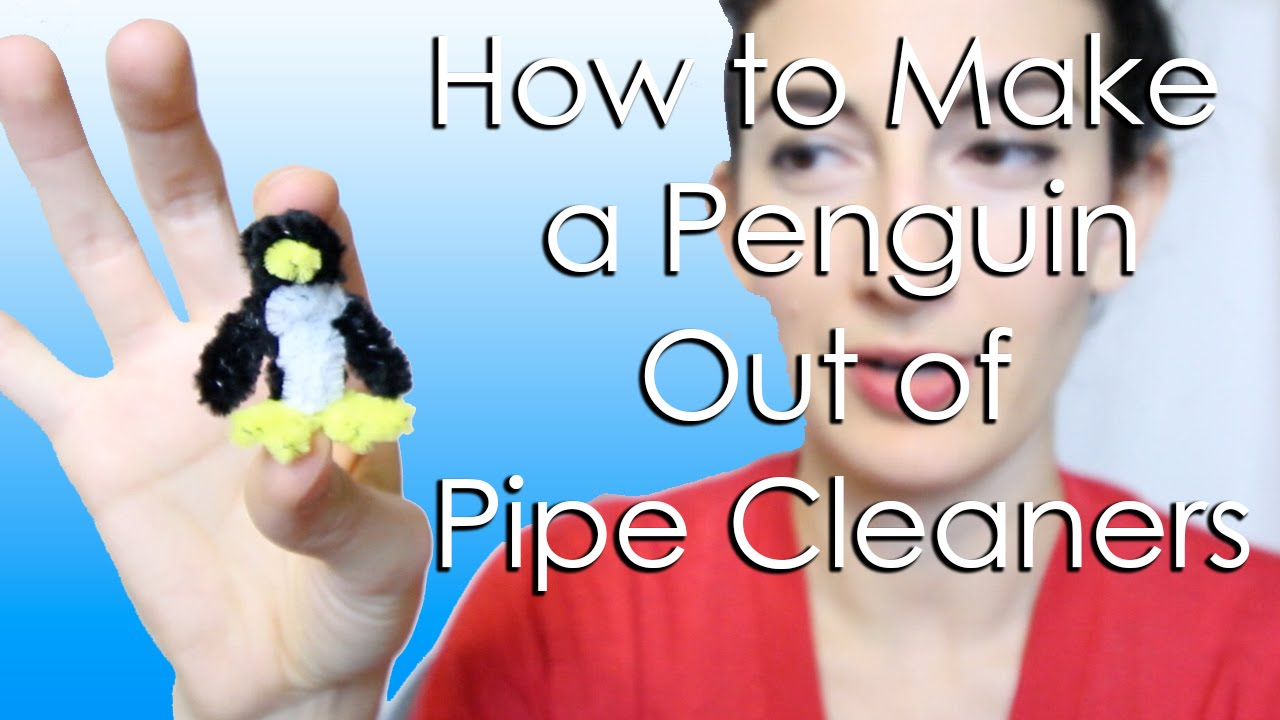 how to make a penguin out of pipe cleaners youtube. Black Bedroom Furniture Sets. Home Design Ideas