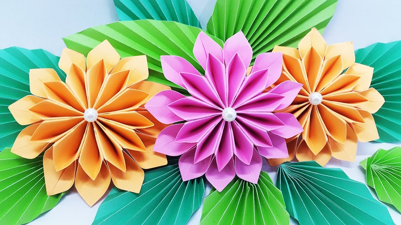 How To Make Flower Bouquet With Color Paper At Home Diy Paper