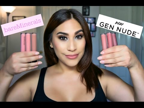 BareMinerals Gen Nude Matte Liquid Lipcolors! Review + Swatches