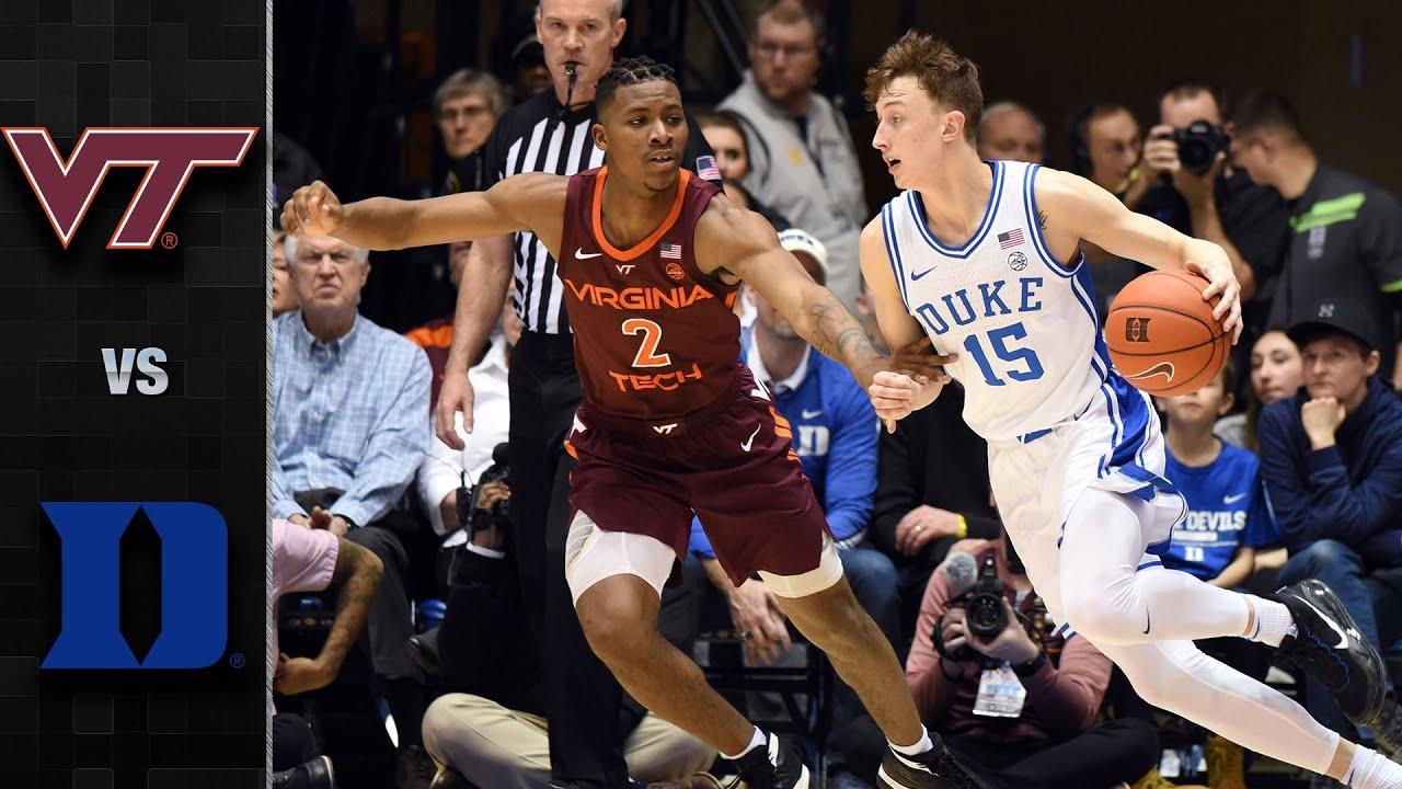 Virginia Tech Vs Duke Men S Basketball Highlights 2019 20 Youtube