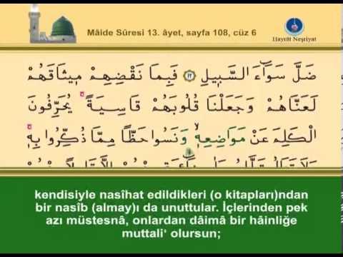 Kur'ân-ı Kerim, 6.Cüz