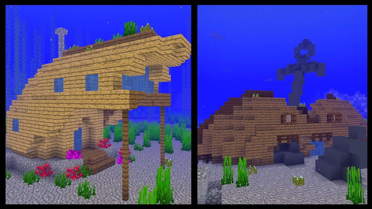 7 Minecraft Shipwreck House Ideas