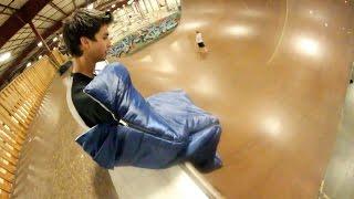 Sleeping Bag Skateboarding!