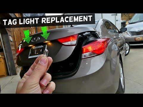 HOW TO REPLACE TAG LIGHT BULB ON HYUNDAI ELANTRA 2011 2012 2013 2014 2015 2016