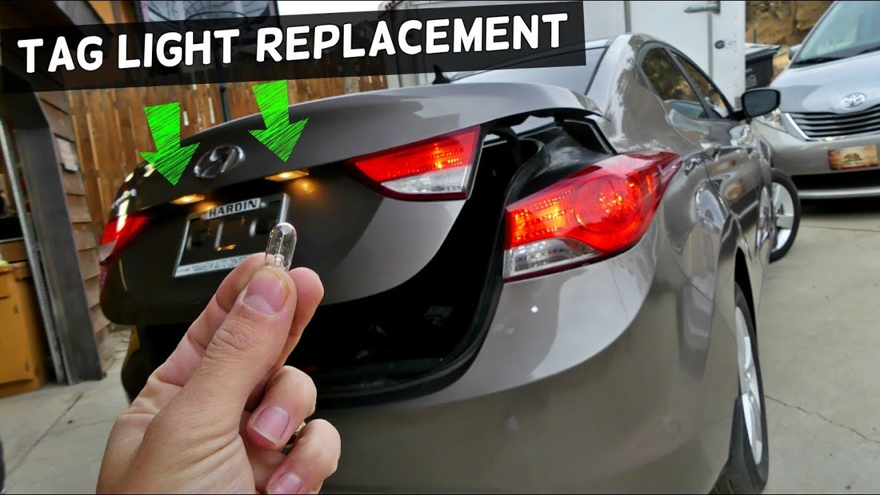how to replace tag light bulb on hyundai elantra 2011 2012 2013 2014 2015 2016 [ 1280 x 720 Pixel ]