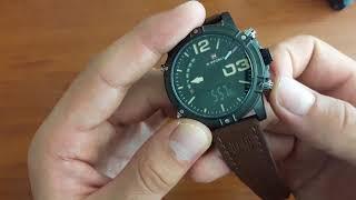 Обзор и настройка. Мужские наручные часы Naviforce Life 9095