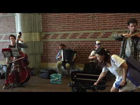 Street musicians at the rijksmuseum