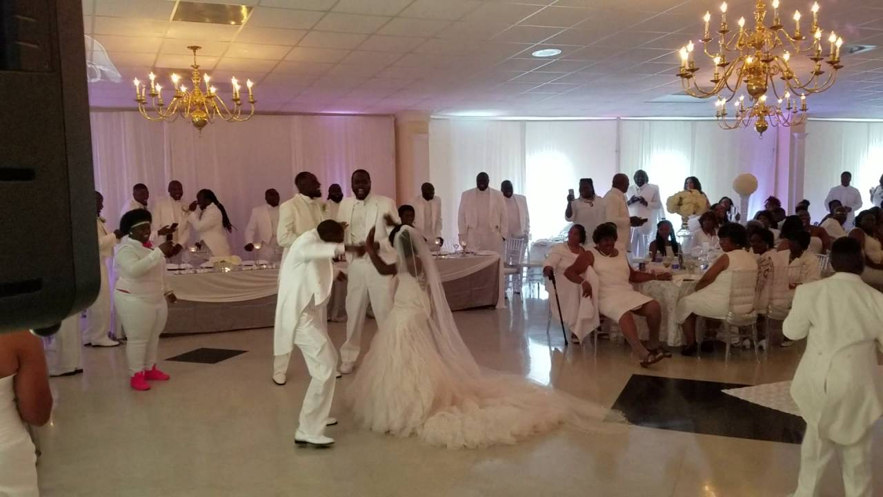 All White Indoor Wedding Ceremony Site: All White Wedding & Reception