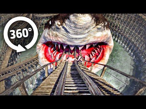 ???? 360° VR Video SHARK Roller Coaster