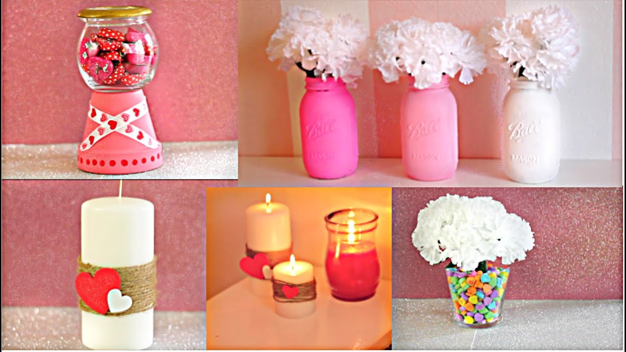 Diy room decor for valentine 39 s day under 10 youtube - Valentine day room decoration ...