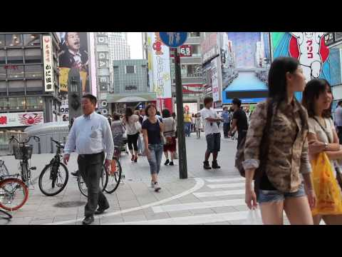 Candid Japan: Look at people of Osaka (HD) Japan