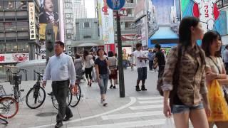 Candid Japan: Look at people of Osaka (HD) Japan