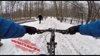 Зимои на велосипеде