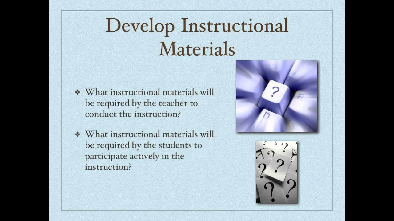 Educ6030 Instructional System Design Models Overview Youtube