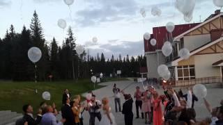 Запуск шаров на свадьбе Димы и Светы