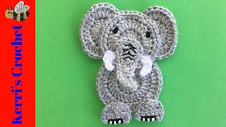 Crochet Easy Elephant Tutorial - Crochet Applique Tutorial