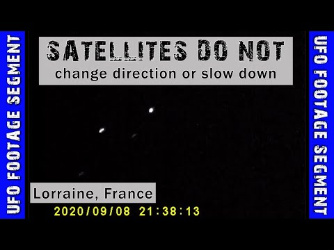 UFO SIGHTING VIDEO • Satellites DO NOT do this • Lorraine, France