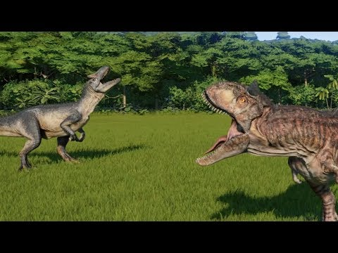 Carnotaurus VS Allosaurus - Jurassic World Evolution