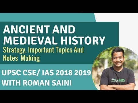 Ancient And Medieval History - Strategy,Important Topics,Notes Making - UPSC CSE/ IAS By Roman Saini