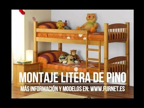 Montaje literas madera de pino furnet youtube - Literas precios modelos ...