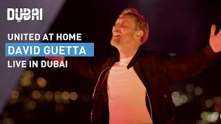 David Guetta Live at Burj Al Arab #UnitedatHome | Visit Dubai (4K)