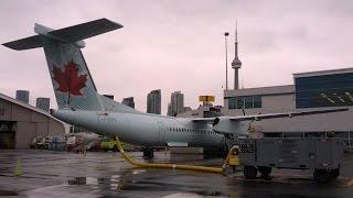 Cockpit view : visual Approach Toronto City CYTZ Air Canada Express / Sky Regional December 22 2014