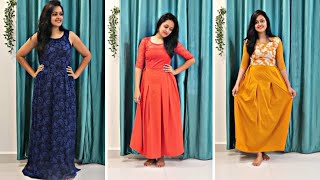FLIPKART MAXI DRESS HAUL under Rs. 600 from Flipkart || HEAVENLY HOMEMADE