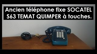 Ancienne sonnerie telephone a touches SOCATEL TEMAT QUIMPER