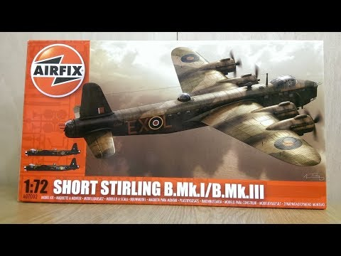 Airfix Shorts Stirling B-I/III 1-72nd Scale Inbox Review