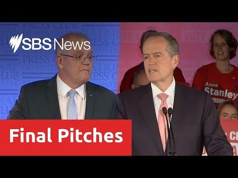 Morrison And Shorten Deliver Final Addresses Before Federal Election