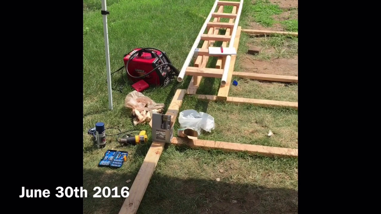 backyard homemade rollercoaster progress video angle shots youtube