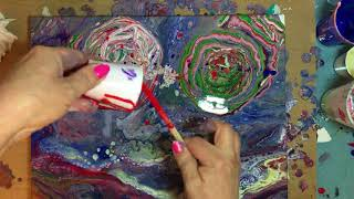 Fluid painting with Tempera paints