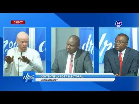 DROIT DE RÉPONSE (CONTENTIEUX POST-ÉLECTORAL: Quelles lecons?) du 21 Octobre 2018 - EQUINOXE TV