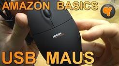 Unboxing/First Look: Amazon Basics USB Maus + Vergleich mit Logitech RX250 / Optical Mouse