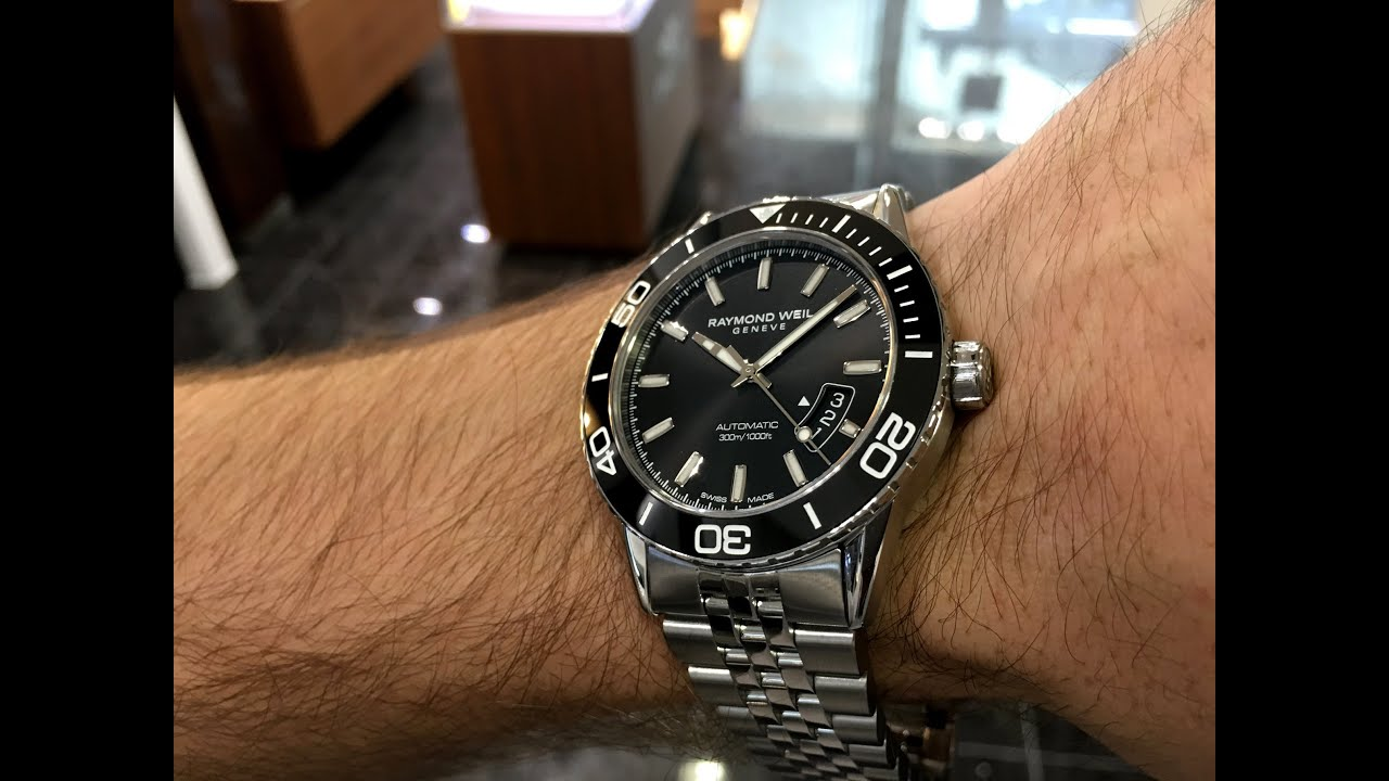 raymond weil freelancer diver automatic youtube
