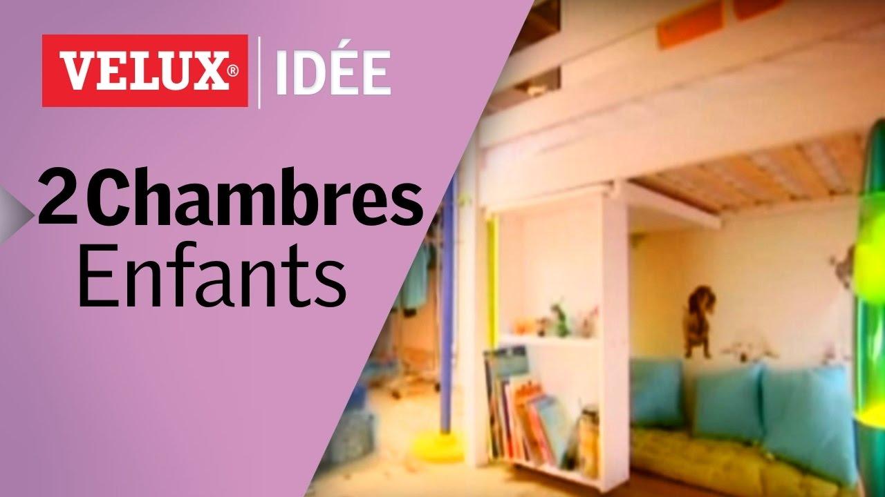 Comment créer 2 chambres pour enfants sous les toits ? - YouTube