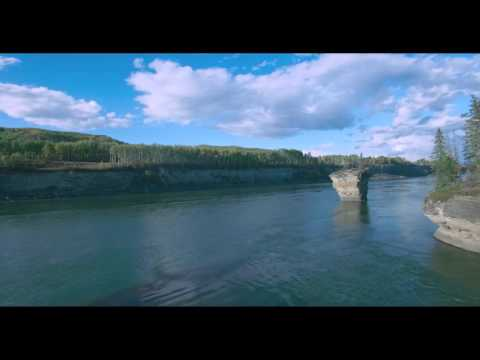 This is what the Peace River valley looked like before Site C dam