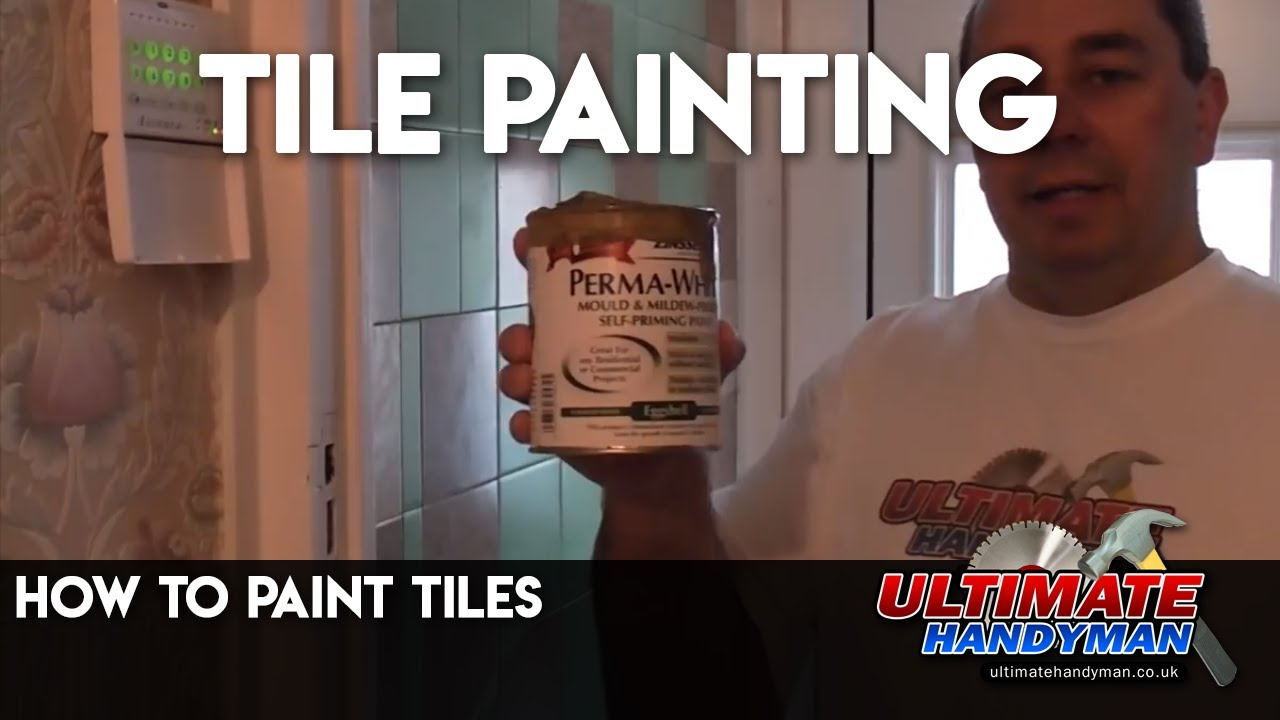 How to paint tiles - YouTube