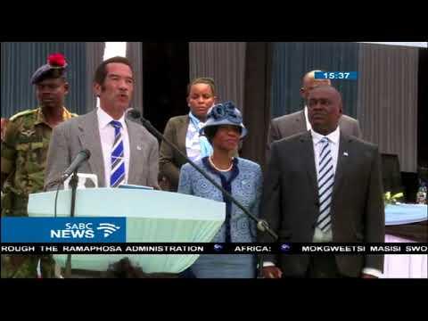 Botswana's new president Mokgweetsi Masisi sworn in